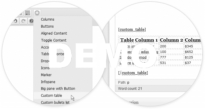 shortcodes-tables