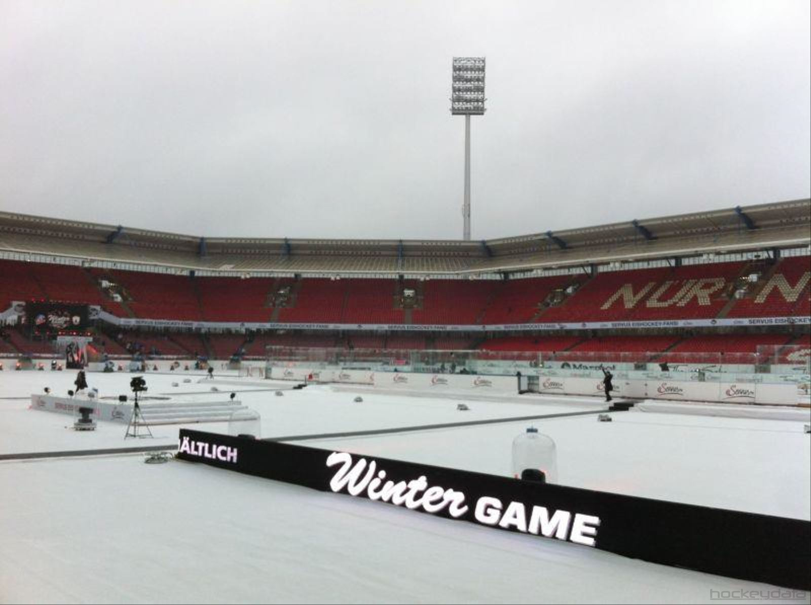 Wintergame in Nürnberg (Germany) and yes, it was pretty cold!