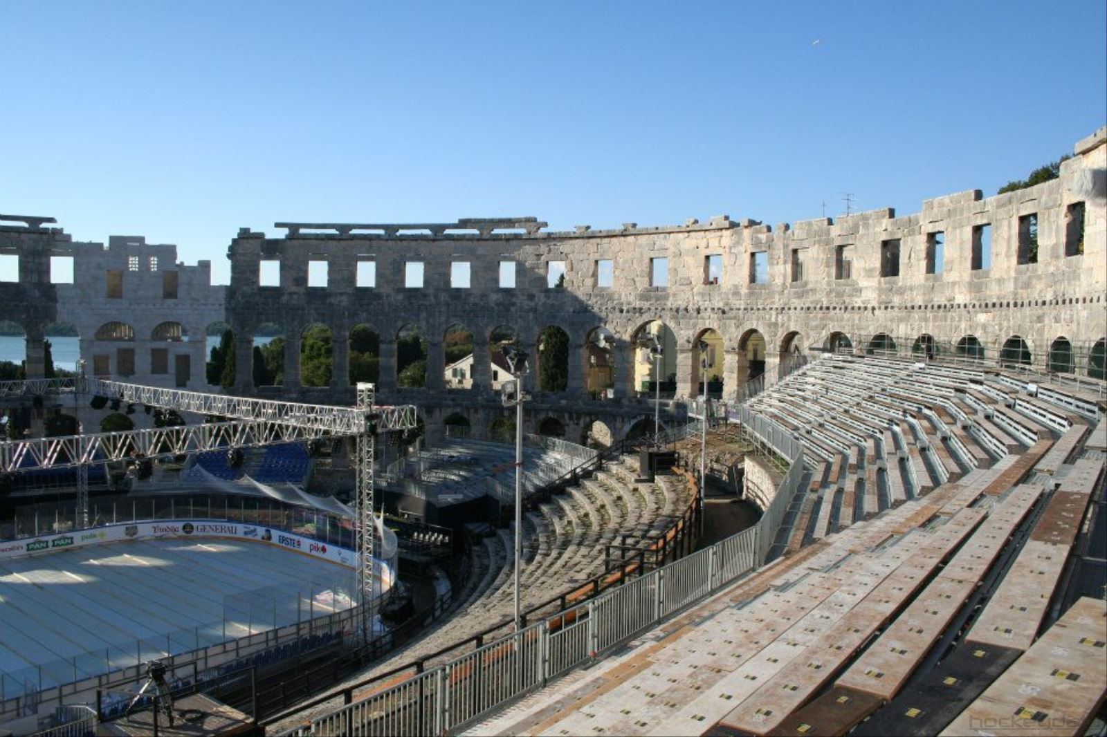 A different kind of hockey rink! Ice Fever in Pula (CRO) 2012