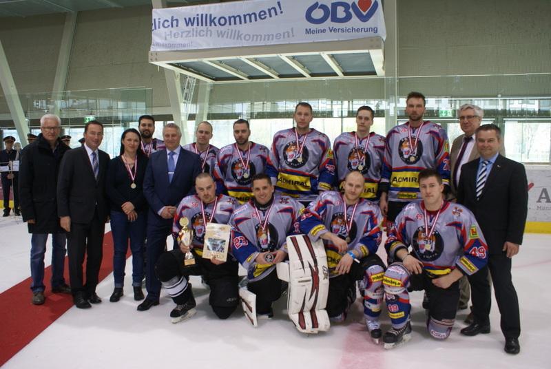 PSV Wien 1/ Bgdr. Liberda (ÖPOLSV),  Landespolizeipräsident Wien Mag. Dr. Pürstl, Hr. Boigner (Erste Bank), Hr. Loos und Hr. Koczurek (ÖBV)